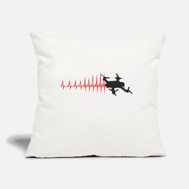 "Faster The heartbeat is getting faster and faster - Throw Pillow Cover 18"" x 18"""