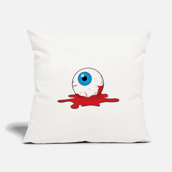 "Best Pillow Cases - Scary Eye - Best Of Halloween - Throw Pillow Cover 18"" x 18"" natural white"