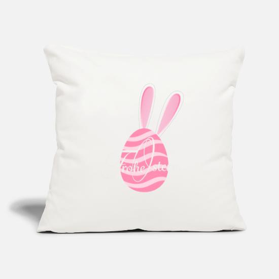 "Easter Bunny Pillow Cases - Easter Egg - Throw Pillow Cover 18"" x 18"" natural white"
