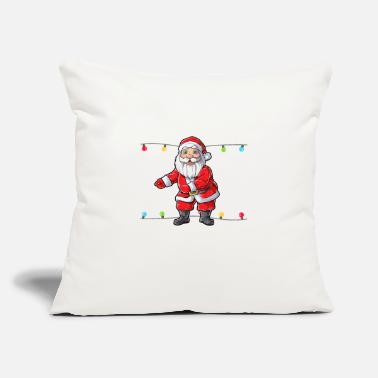 "Around Santa Floss Like A Boss T shirt Christmas Boys - Throw Pillow Cover 18"" x 18"""
