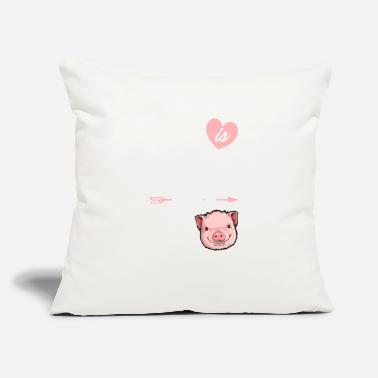 "Life is Better With a Pig T shirt Pigs Farm - Throw Pillow Cover 18"" x 18"""