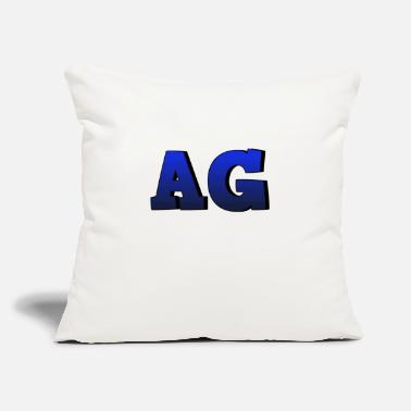 "Age AG - Throw Pillow Cover 18"" x 18"""