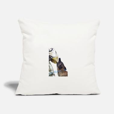 "Police Dog Police dog - Throw Pillow Cover 18"" x 18"""