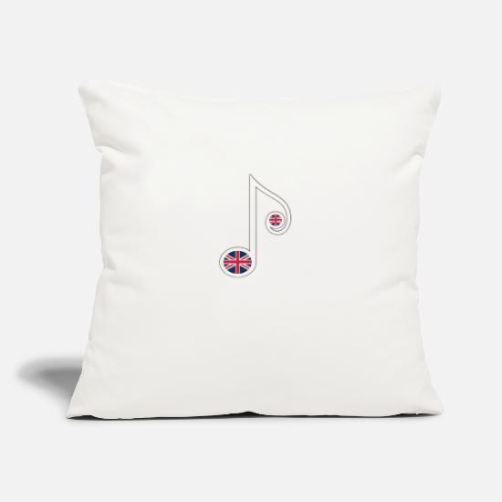 "Cool Pillow Cases - Wonderful UK Music - Throw Pillow Cover 18"" x 18"" natural white"