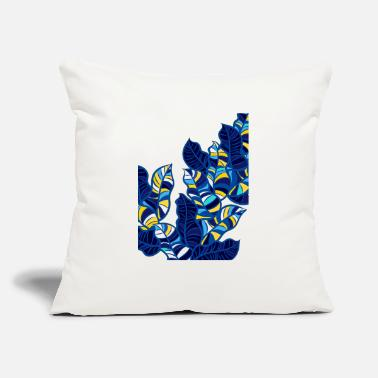 "tropical leaves - Throw Pillow Cover 18"" x 18"""