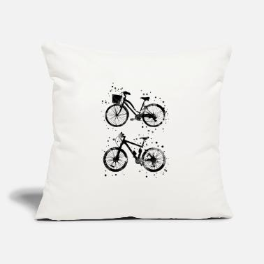 "Bicycle Bicycles, watercolor bicycles - Throw Pillow Cover 18"" x 18"""