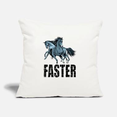 "Faster Faster - Throw Pillow Cover 18"" x 18"""