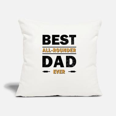 "Rounders Best All Rounder Dad Black - Throw Pillow Cover 18"" x 18"""