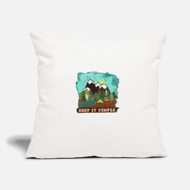 "Simple Woman Camping Keep It Simple Camping Life Hansongfc - Throw Pillow Cover 18"" x 18"""