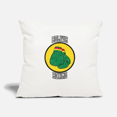 "Bolivia Boxing - Throw Pillow Cover 18"" x 18"""