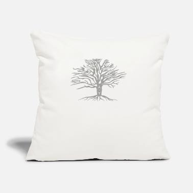 "Oak Garry oak - Throw Pillow Cover 18"" x 18"""