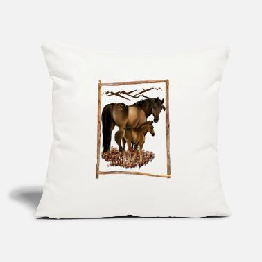 "Mare Mare and Baby - Throw Pillow Cover 18"" x 18"""