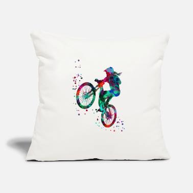 "Mountain Bike Mountain biking, mountain bike, sport - Throw Pillow Cover 18"" x 18"""