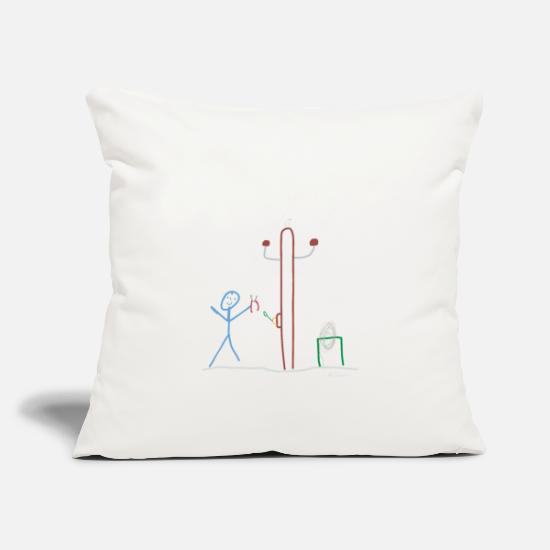 "Engineer Pillow Cases - Stick figure electrical engineering Work - Throw Pillow Cover 18"" x 18"" natural white"