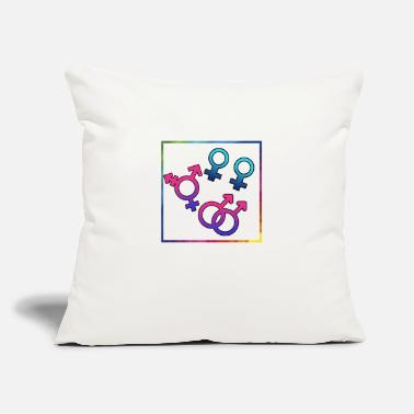 "Sexual sexually free - Throw Pillow Cover 18"" x 18"""