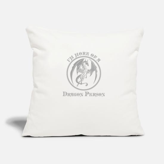 "Mythology Pillow Cases - Dragon Mythical Creature Mythology Gift - Throw Pillow Cover 18"" x 18"" natural white"