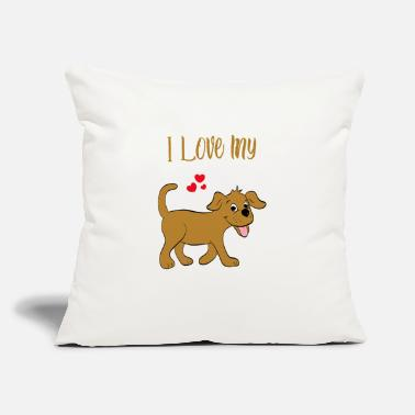 "Funny Dog Funny Dog - Throw Pillow Cover 18"" x 18"""
