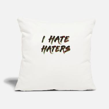 "Some Dudes Marry Dudes. So Get Over It Haters Gonna Hate Tshirt Design I hate haters - Throw Pillow Cover 18"" x 18"""