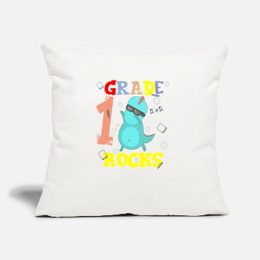 "School Starter 1ST GRADE ROCKS First Grader School Starter Shirt - Throw Pillow Cover 18"" x 18"""