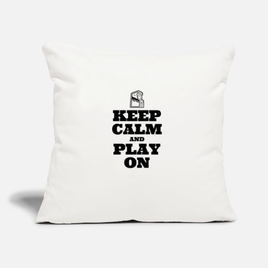 "Play Pillow Cases - Keep Calm and Play On - Throw Pillow Cover 18"" x 18"" natural white"