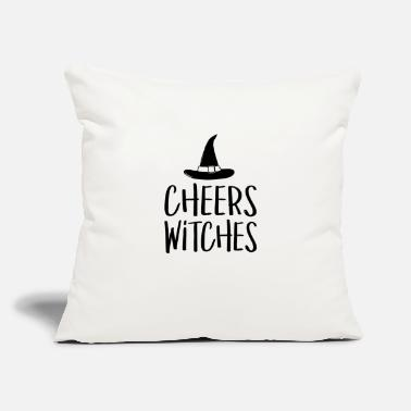"Cheers Cheers Witches - Throw Pillow Cover 18"" x 18"""