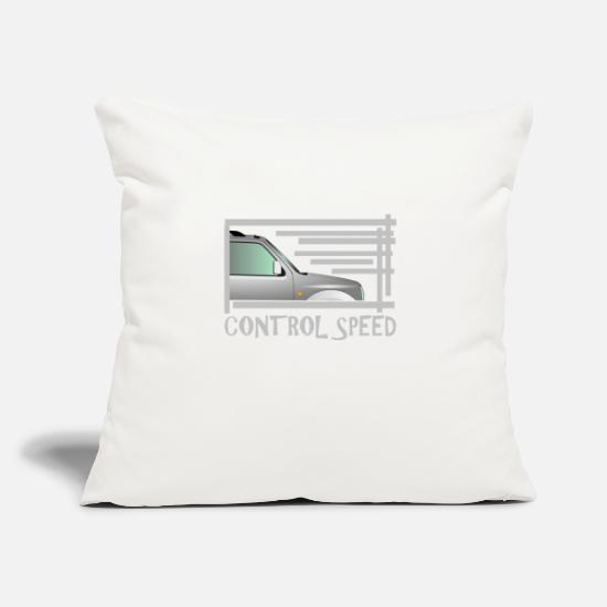 "Speed Metal Pillow Cases - Control Speed - Throw Pillow Cover 18"" x 18"" natural white"
