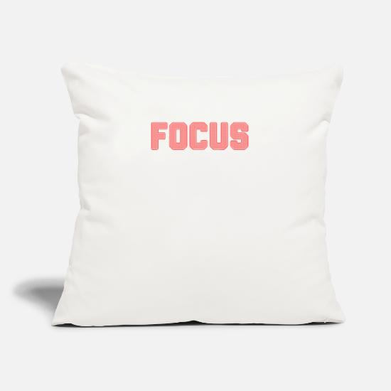 "Fitness Pillow Cases - FOCUS - Throw Pillow Cover 18"" x 18"" natural white"