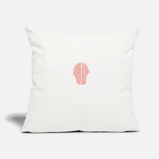 "Christmas Pillow Cases - Brain inside gift tee man woman - Throw Pillow Cover 18"" x 18"" natural white"