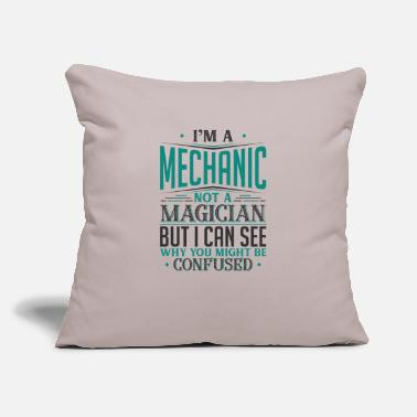 "I'm A Mechanic Not A Magician But I can See Why - Throw Pillow Cover 18"" x 18"""