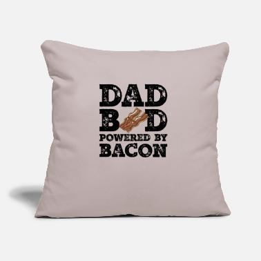 "Dad Bod Powered By Bacon Father Figure Gifts Idea - Throw Pillow Cover 18"" x 18"""