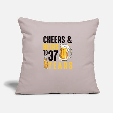 "37th Birthday Gifts Drinking Shirt for Men or - Throw Pillow Cover 18"" x 18"""