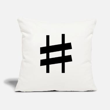 "Note Clue sharp note - Throw Pillow Cover 18"" x 18"""