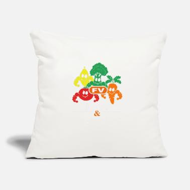 "Vegetables fruits vegetables - Throw Pillow Cover 18"" x 18"""