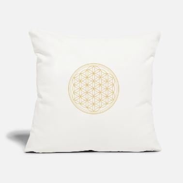 "Life Flower Flower of Life - Throw Pillow Cover 18"" x 18"""