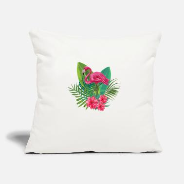 "Hot Pink Hot Pink Flamingo - Throw Pillow Cover 18"" x 18"""