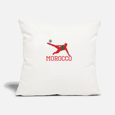 "Morocco morocco soccer, #morocco - Throw Pillow Cover 18"" x 18"""