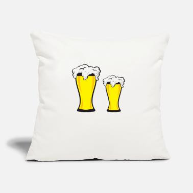 "BEER ME - Throw Pillow Cover 18"" x 18"""