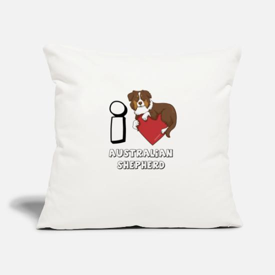 "Australian Shepherd Pillow Cases - Australian Shepherd - Throw Pillow Cover 18"" x 18"" natural white"