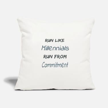 "RunMillennials - Throw Pillow Cover 18"" x 18"""