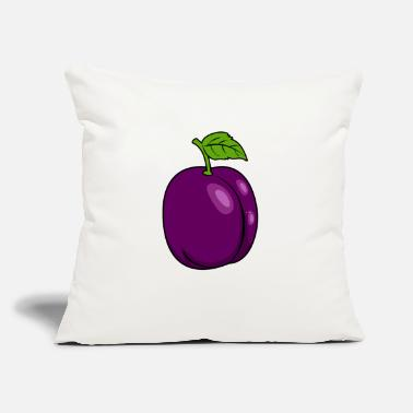 "Ripe plum violet fruit ripe cool gift idea - Throw Pillow Cover 18"" x 18"""