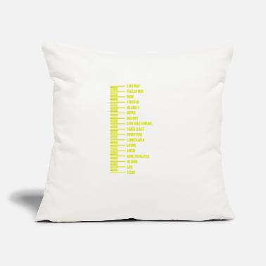 "Measure Beard Measurement - Throw Pillow Cover 18"" x 18"""