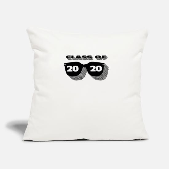 "2020 Pillow Cases - Class Of 2020 Sunglasses - Throw Pillow Cover 18"" x 18"" natural white"
