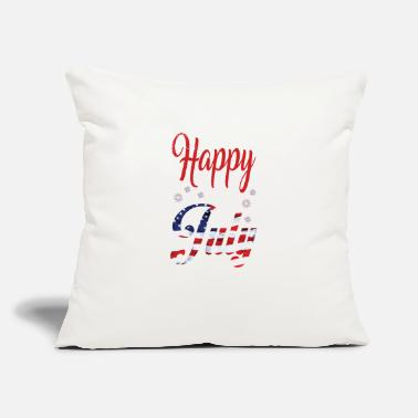 "Th Of July $th of July Happy - Throw Pillow Cover 18"" x 18"""