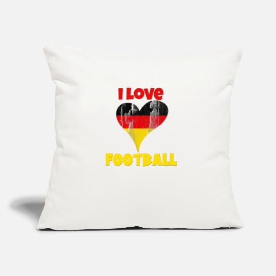 "Patriot Pillow Cases - Germany Deutschland Football World cup Soccer - Throw Pillow Cover 18"" x 18"" natural white"