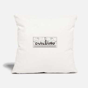 "Building Building - Throw Pillow Cover 18"" x 18"""