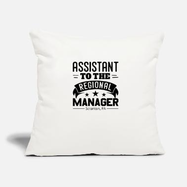 "Region Funny Assistant To The Regional Manager - Throw Pillow Cover 18"" x 18"""