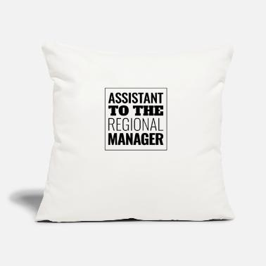 "Region Assistant To The Regional Manager Fun - Throw Pillow Cover 18"" x 18"""