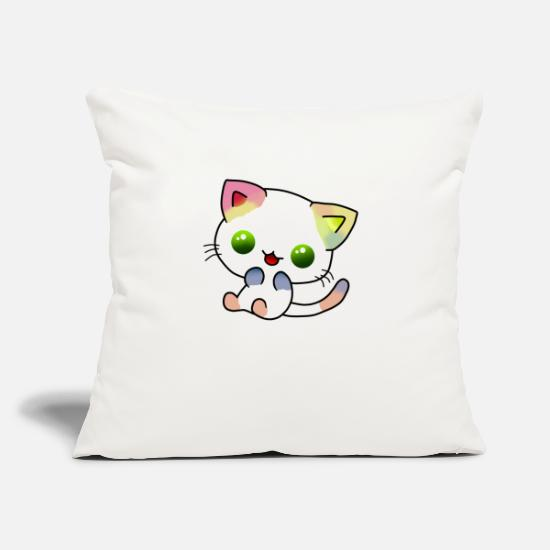 "Digital Pillow Cases - Colour Cat - Throw Pillow Cover 18"" x 18"" natural white"