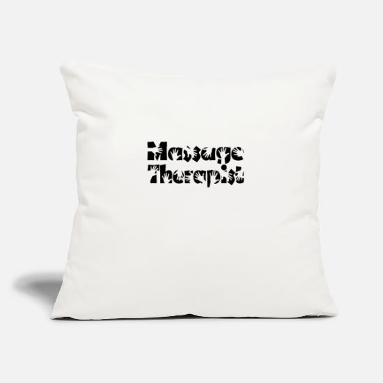 "Therapist Pillow Cases - Funny Massage Therapist Shirt Massage Therapy Tee - Throw Pillow Cover 18"" x 18"" natural white"