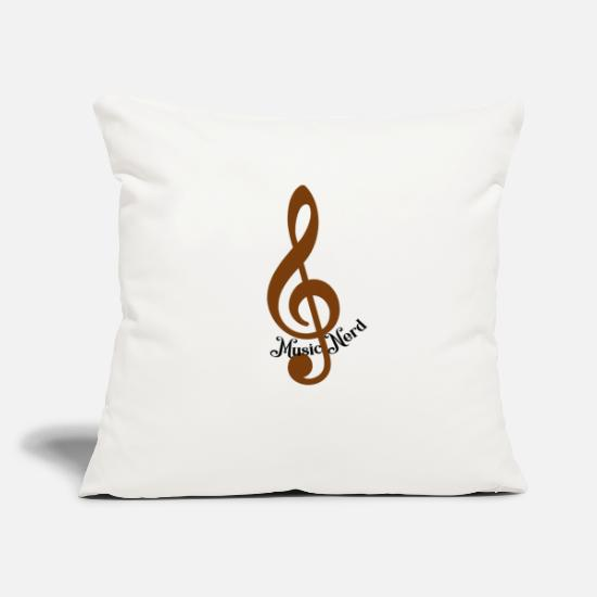 "Nerd Pillow Cases - Nerd Loves Music - Throw Pillow Cover 18"" x 18"" natural white"
